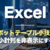 Excel,ピボットテーブル小技,小計行を非表示にする方法